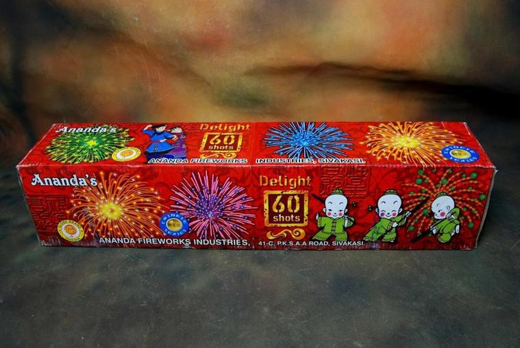 FSHOT 60 Multicolour Crackling 1 Pc Ananda